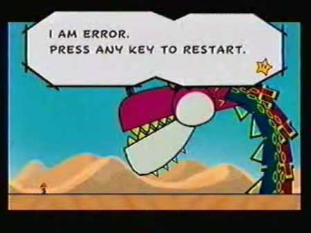 "Super Paper Mario - Fracktail ""I AM ERROR"""