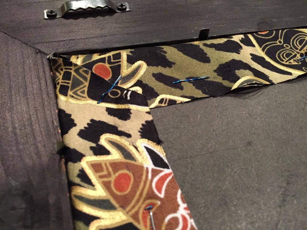 Fabric Cork Board in Frame