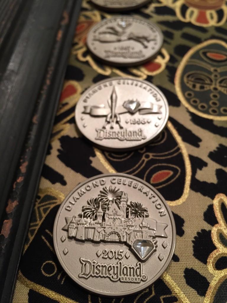 Mario's Disney Pin Board - Diamond Anniversary Medallions