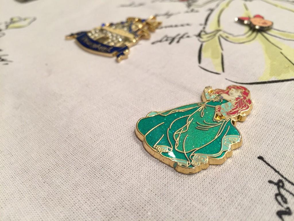 Jenny's Disney Pin Board - Ariel and Castle Detail